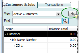 Customers, jobs, and change orders in QuickBooks