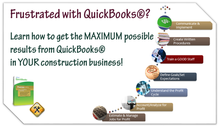 learn to use quickbooks in your construction business quickbooks