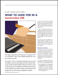 What to look for in a construction CPA