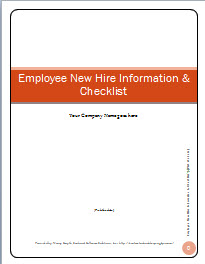 employee new hire information and checklist